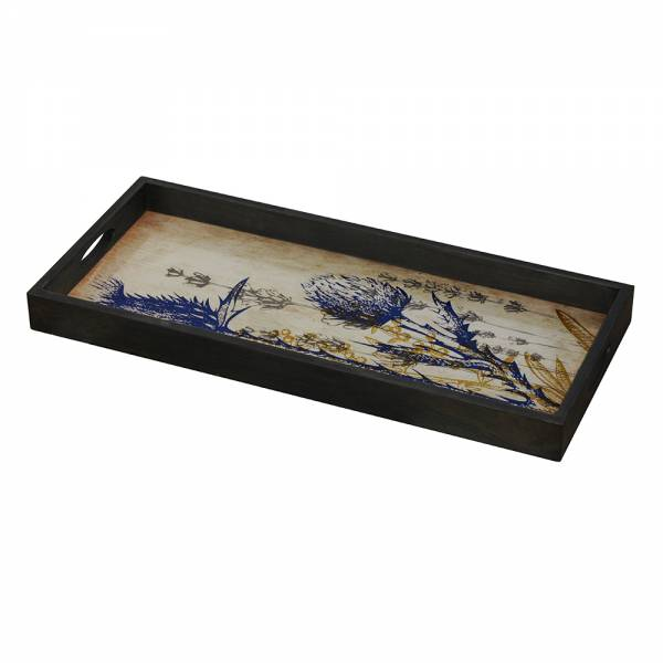 Wild Thistle Glass Tray
