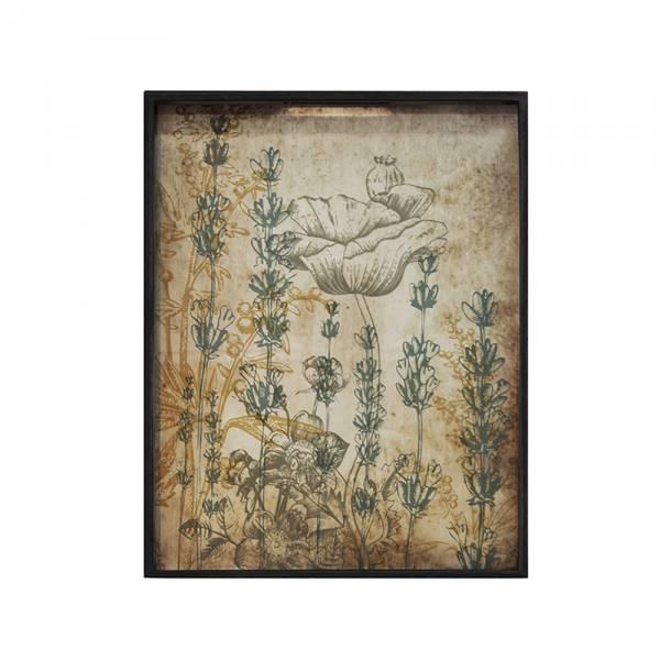 Wildflowers Glass Tray