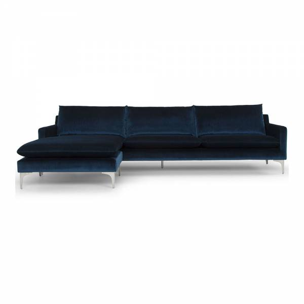 Anders Sectional Sofa - Navy Blue