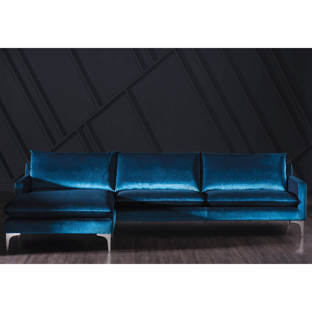 Anders Sectional Sofa – Navy Blue – Rouse Home