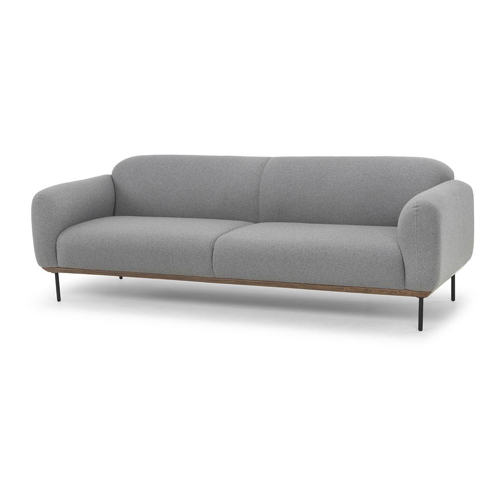 Benson Three Seat Sofa Light Gray