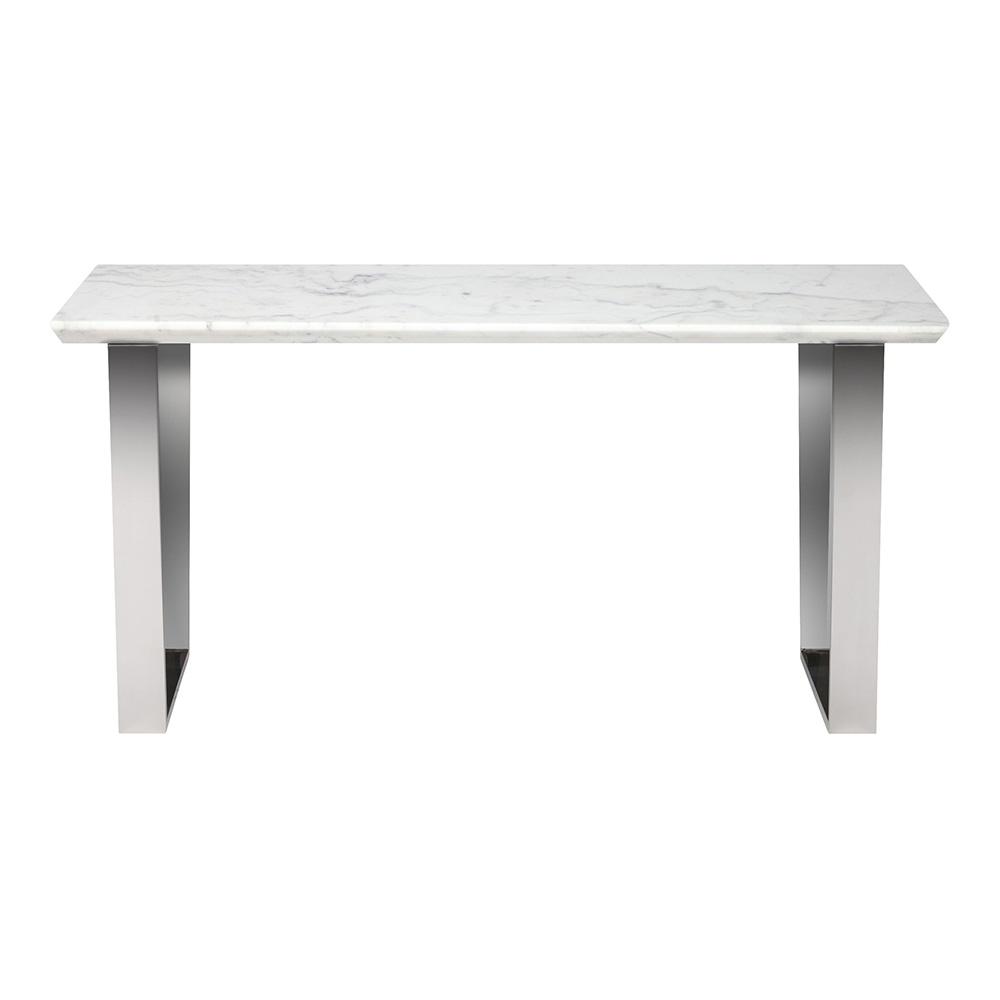 Catrine Console Table White Silver
