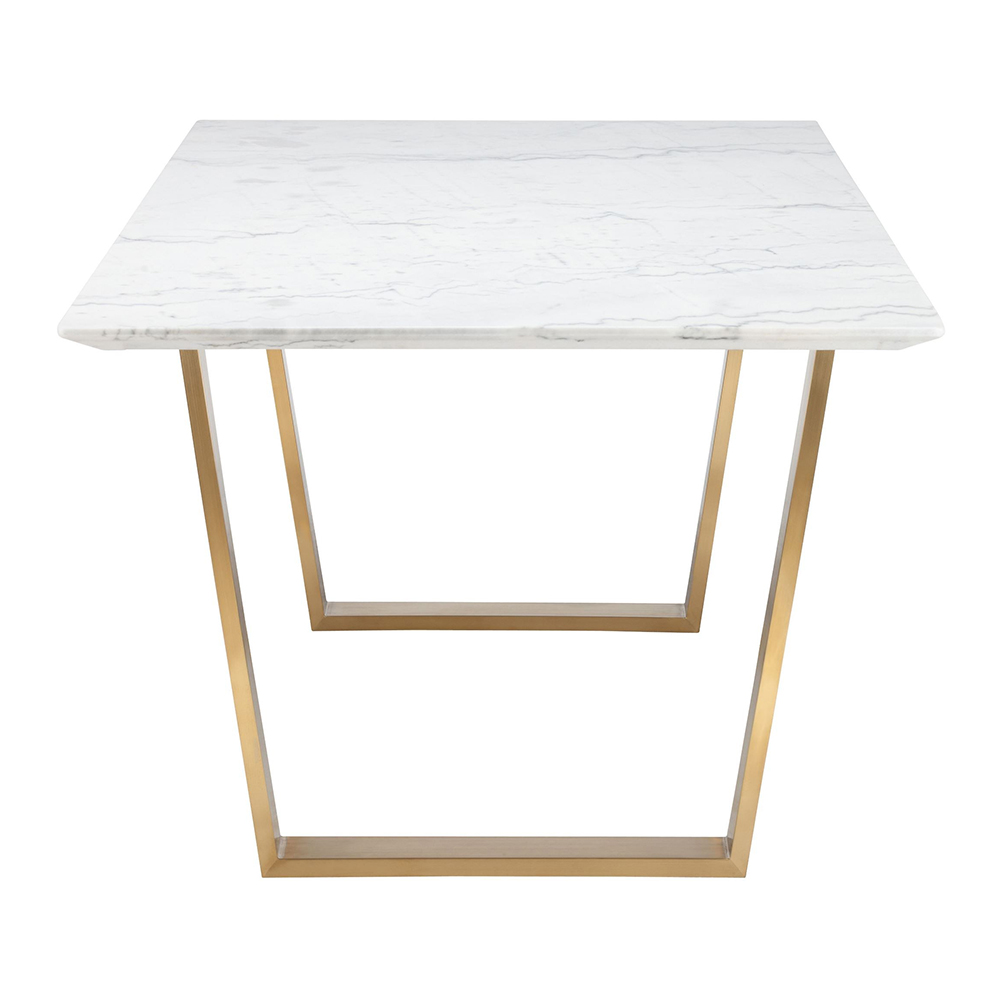 Catrine Dining Table White Gold