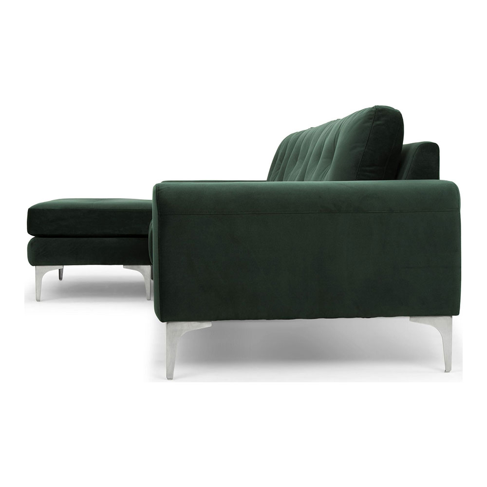 Groovy Colyn Sectional Sofa Emerald Green Gmtry Best Dining Table And Chair Ideas Images Gmtryco