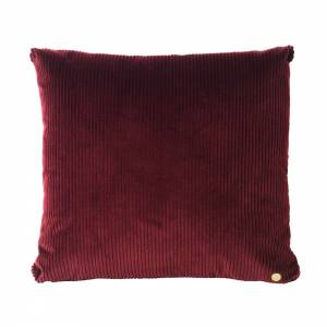 Corduroy Cushion 45x45 - Burgundy