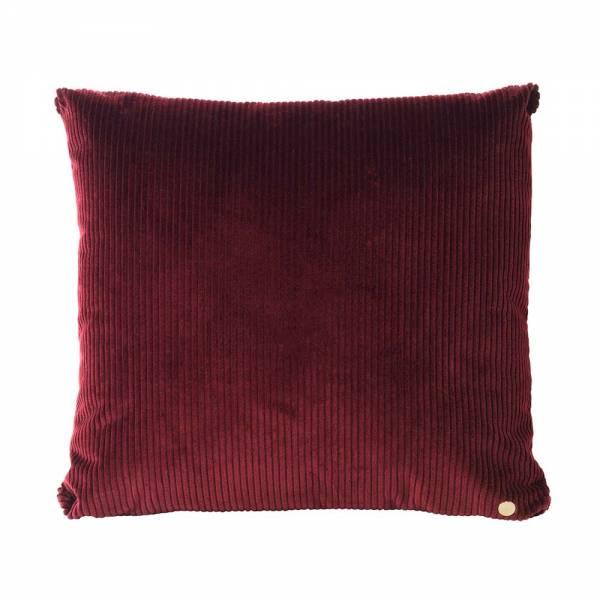 Corduroy Cushion 45x45 - Burgundy
