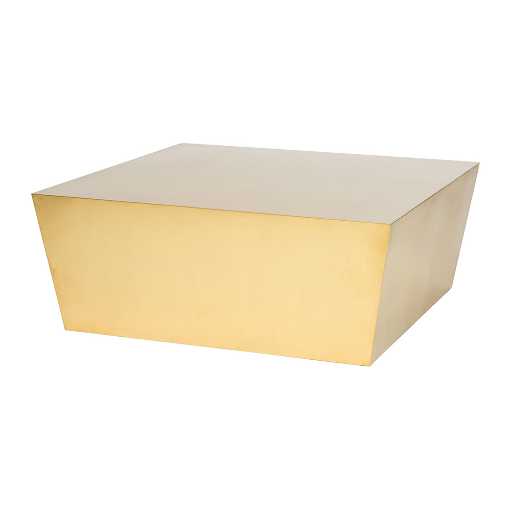 Cube Coffee Table Brushed Gold
