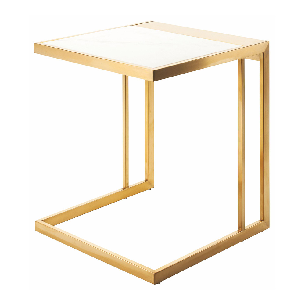 Ethan Side Table White Gold