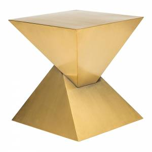 Giza Steel Side Table - Brushed Gold