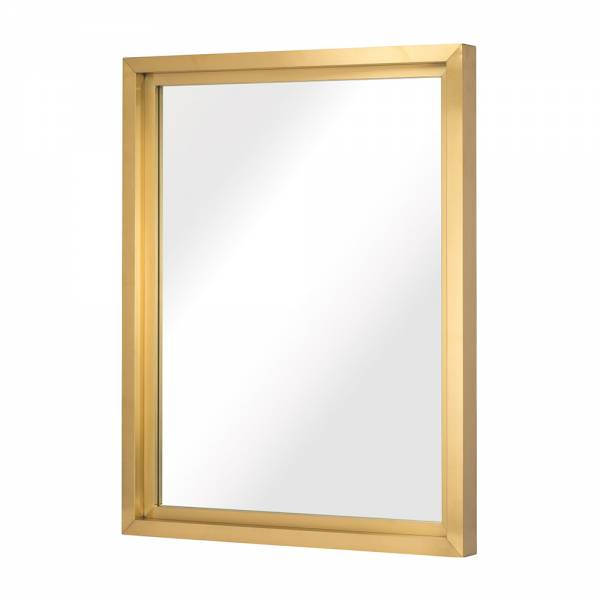 Glam Wall Mirror - Gold Rectangular Medium