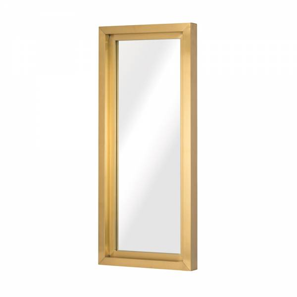 Glam Wall Mirror - Gold Rectangular Small
