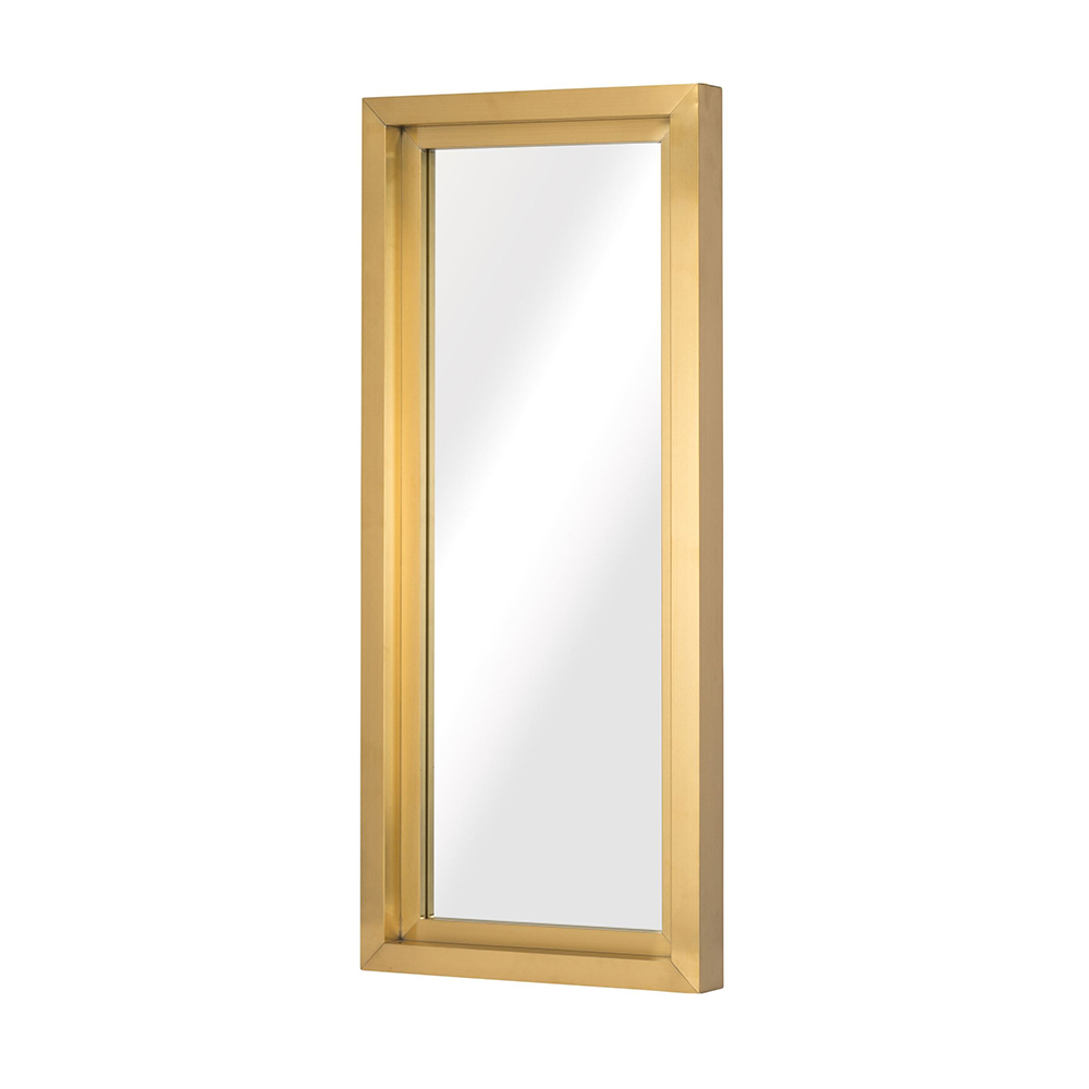 Glam Wall Mirror – Gold Rectangular Small – Rouse Home