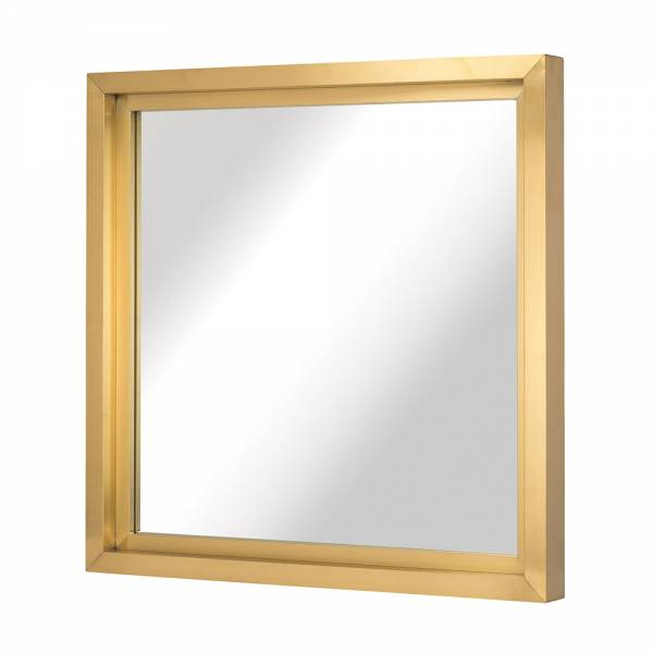 Glam Wall Mirror - Square Gold