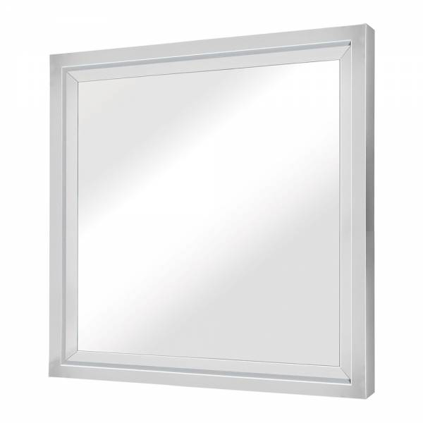 Glam Wall Mirror - Square Silver