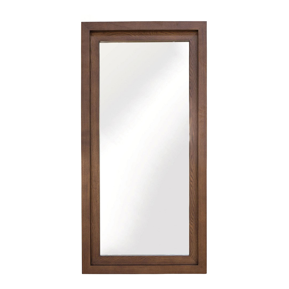 Glam Wall Mirror Walnut Rouse Home