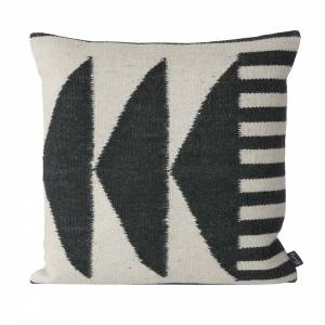 Kelim Cushion - Black Triangles