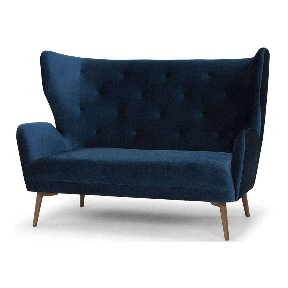 Klara Two Seat Sofa Midnight Blue