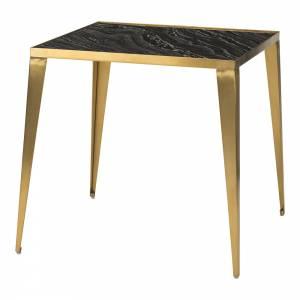 Mink Side Table - Black Gold