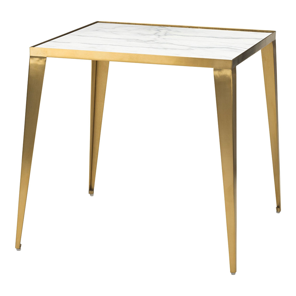 Mink Side Table White Gold