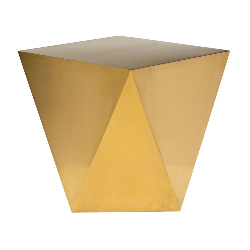 Penta Side Table Brushed Gold