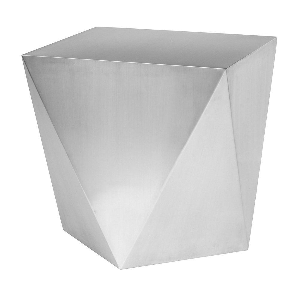 Penta Side Table Brushed Silver