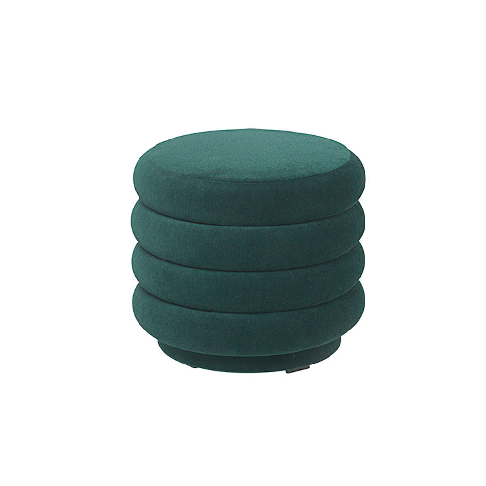 Astonishing Pouf Round Small Dark Green Gmtry Best Dining Table And Chair Ideas Images Gmtryco
