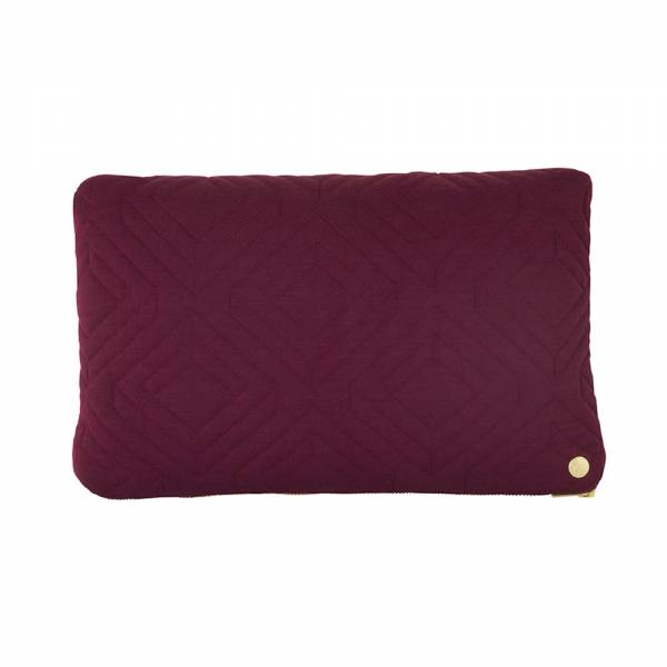 Quilt Cushion 40x25 - Bordeaux