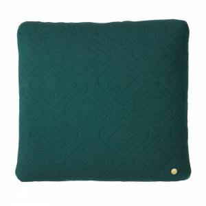 Quilt Cushion 45x45 - Dark Green