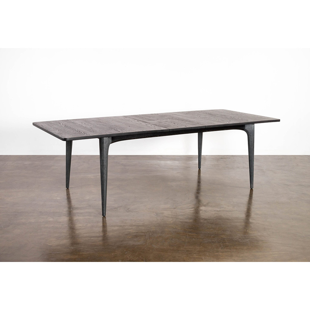 Salk Extendable Dining Table Black Rouse Home