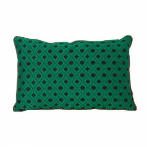 Salon Cushion 40x25 - Mosaic Green