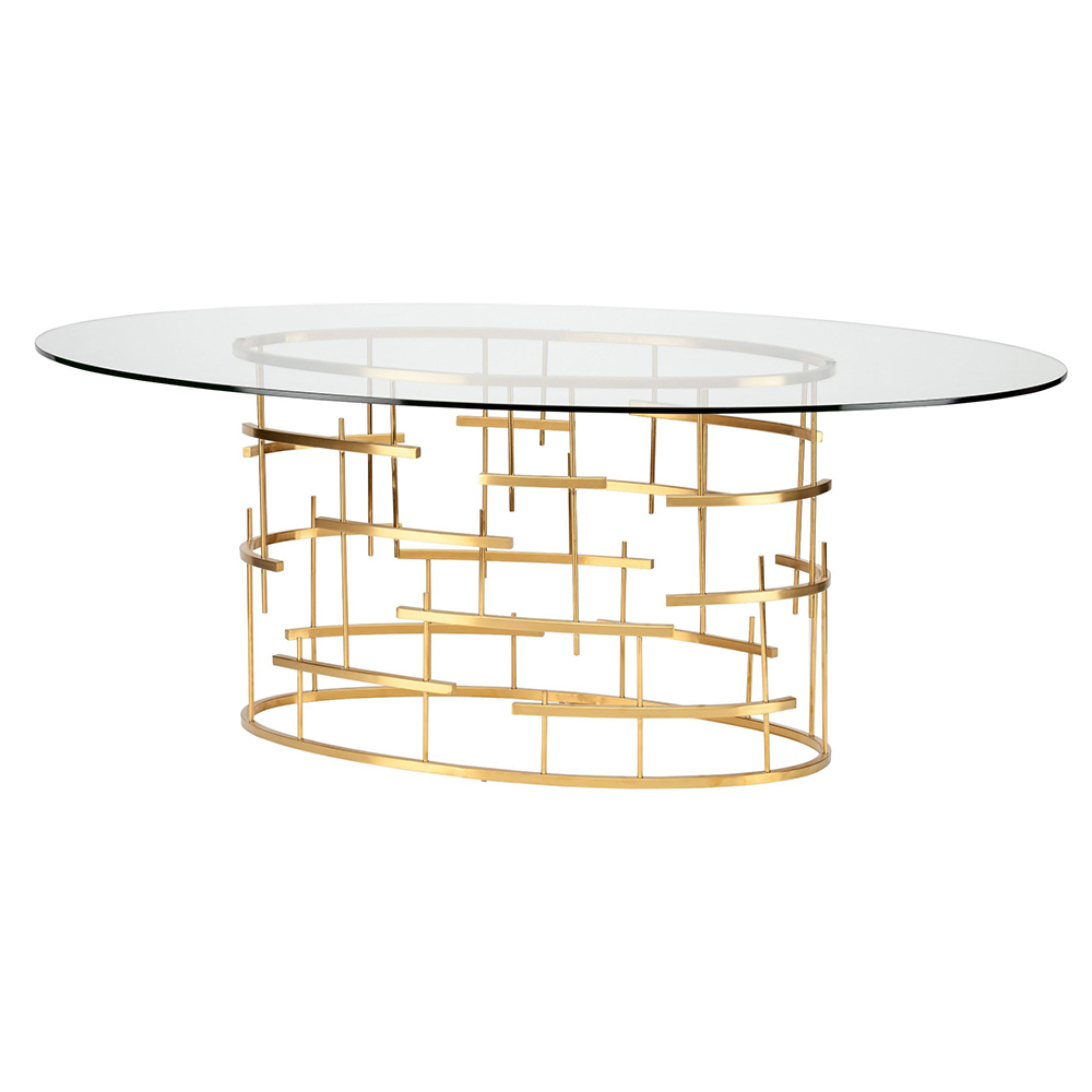 Tiffany Dining Table   Oval Gold