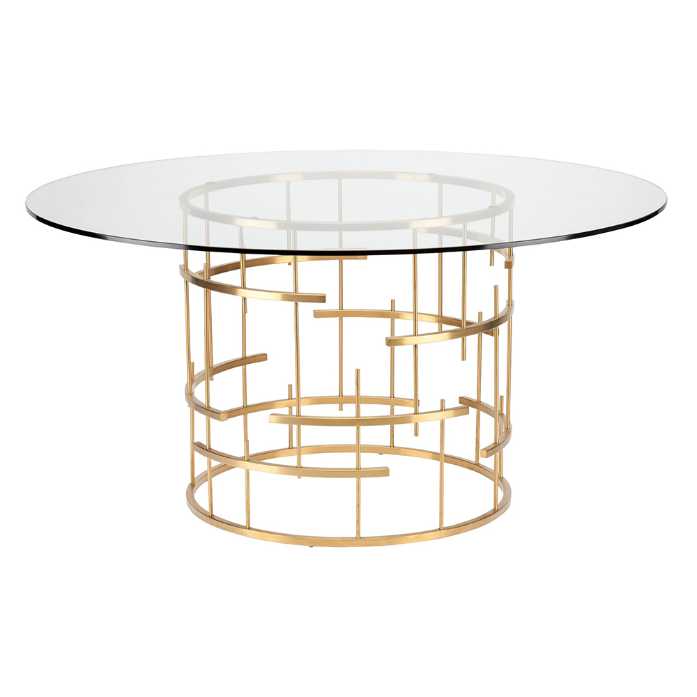 Tiffany Dining Table   Round Gold