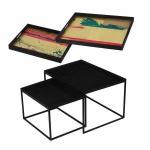 Tray Nesting Tables - Abstract Study and Abstract Vista