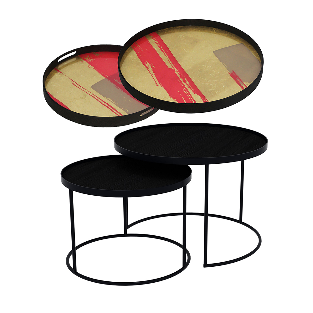 Cool Tray Nesting Tables Low Round Raspberry Abstract And Raspberry Composition Home Interior And Landscaping Pimpapssignezvosmurscom