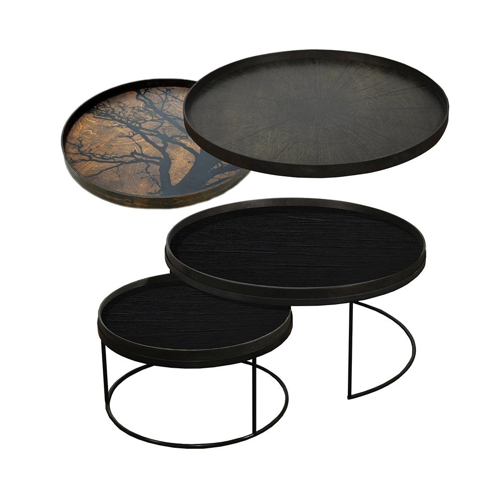 Nesting Tables Low Round Xl Black