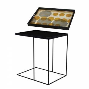 Tray Table Large - Sienna Layered Dots