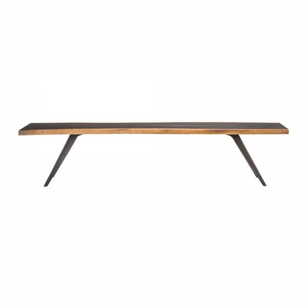 Vega Dining Bench - Seared Oak Black