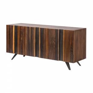 Vega Vertical Sideboard - Seared Oak Small
