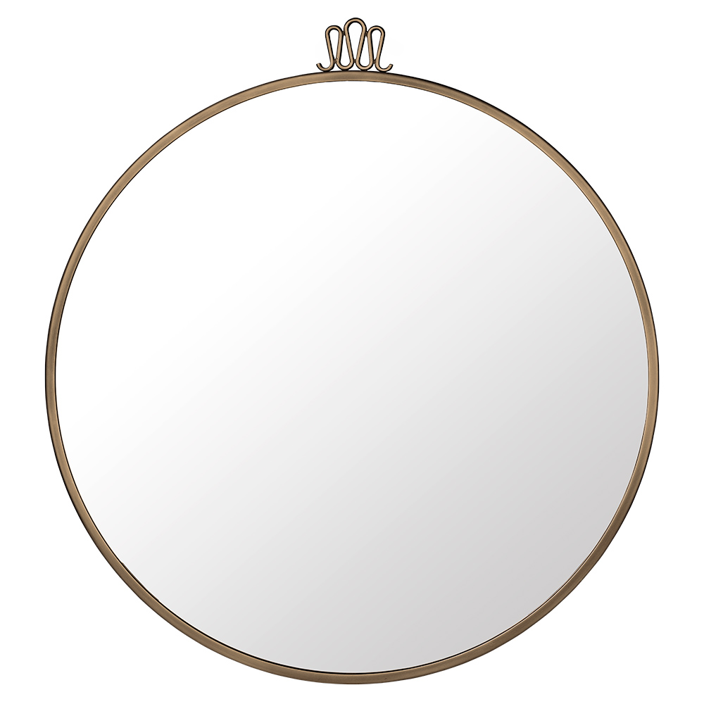 Randaccio Antique Brass Round Mirror
