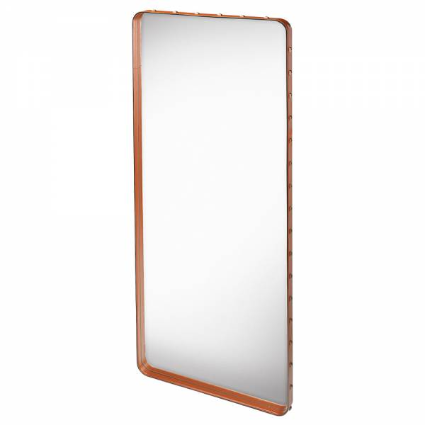 Adnet Rectangular Wall Mirror - Tan