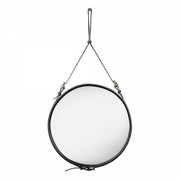Adnet Round Wall Mirror - Black