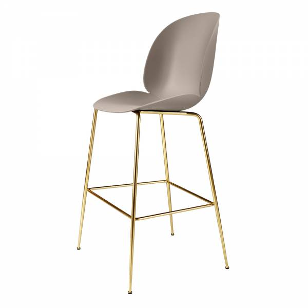 Beetle Bar Chair - New Beige, Brass