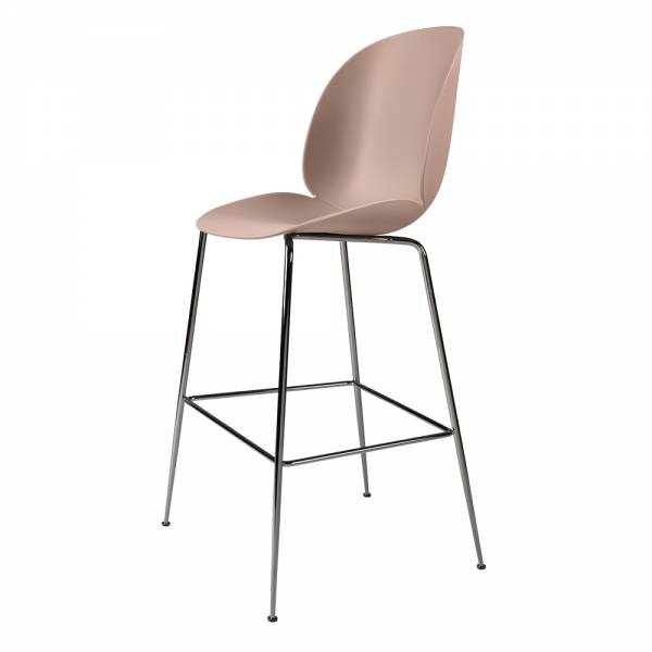 Beetle Bar Chair - Sweet Pink, Black Chrome