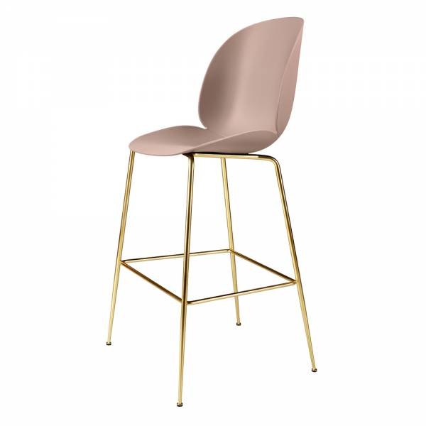 Beetle Bar Chair - Sweet Pink, Brass