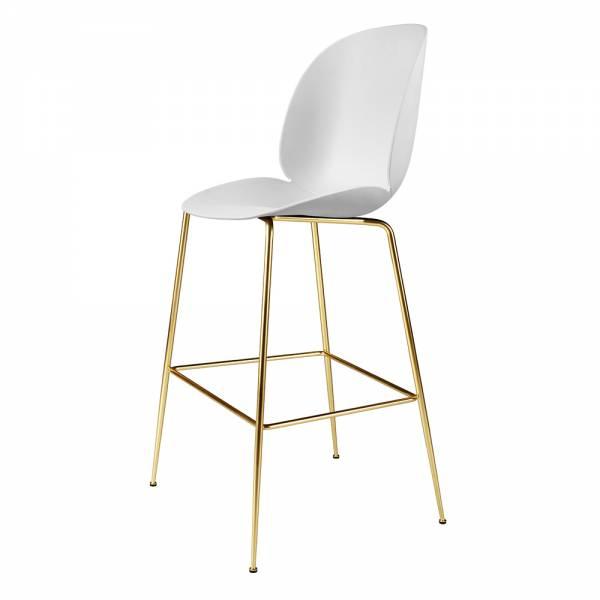 Beetle Bar Chair - White, Brass