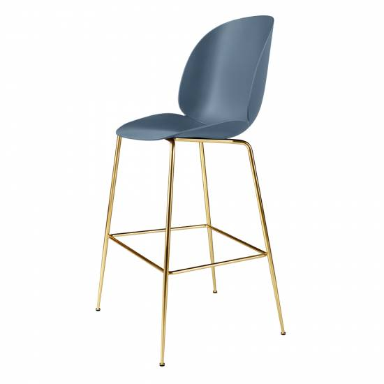 Beetle Counter Chair - Blue Gray, Brass