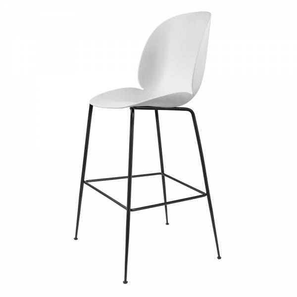 Beetle Counter Chair - White, Black