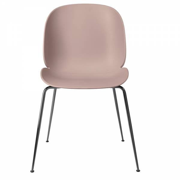 Beetle Dining Chair - Sweet Pink, Black Chrome