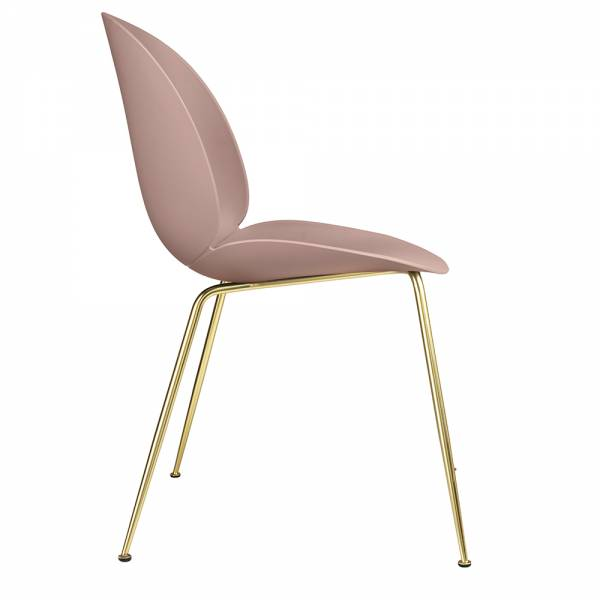 Beetle Dining Chair - Sweet Pink, Brass