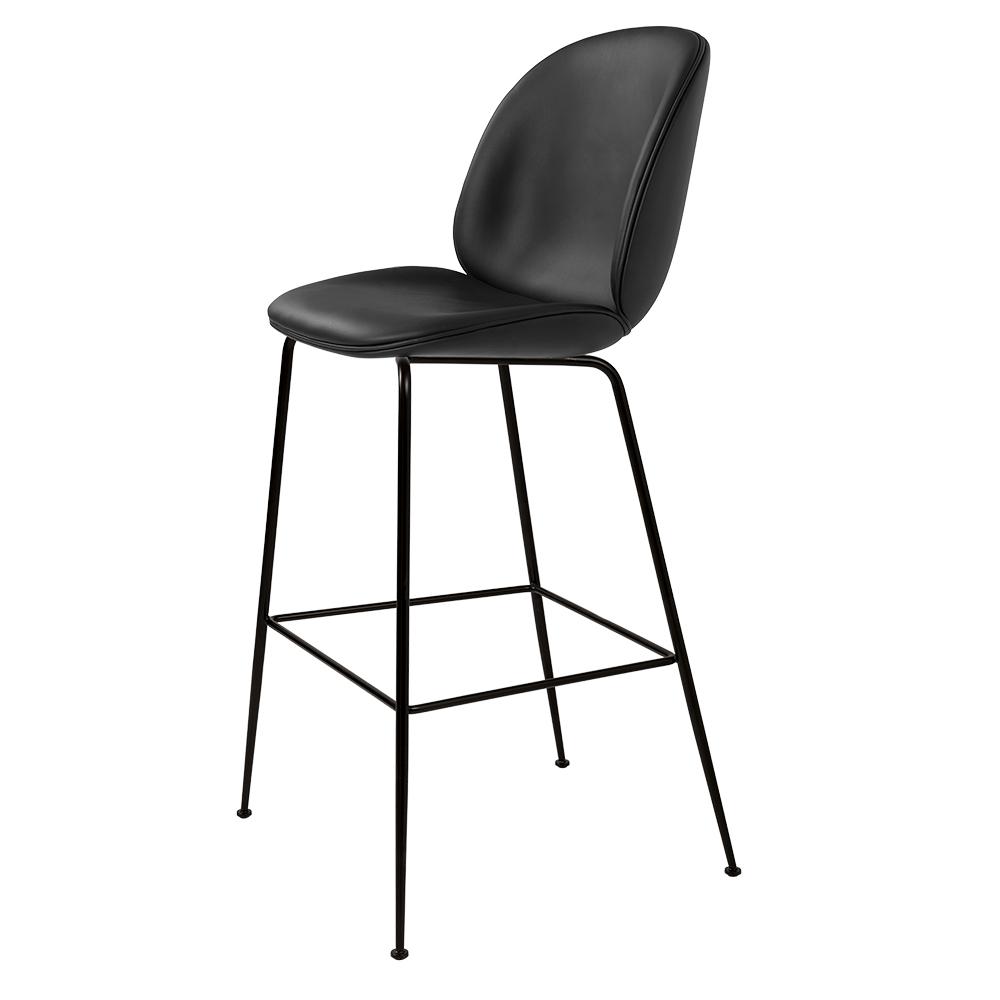 Admirable Beetle Fully Upholstered Bar Chair Black Leather Black Base Uwap Interior Chair Design Uwaporg